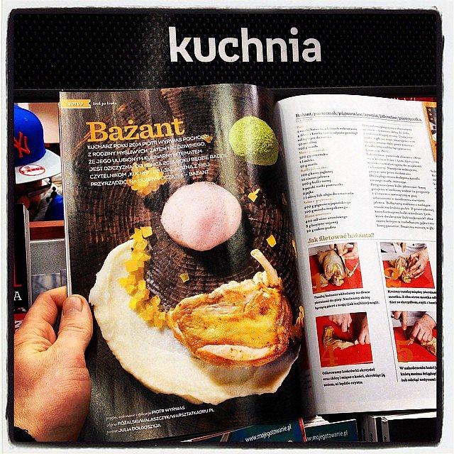 W tym miesiącu w roli głównej bażant! 2015 r z Piotrem i dziczyzną, taki plan! Kuchnia magazyn dla smakoszy, zaczynamy leśne prezentacje.