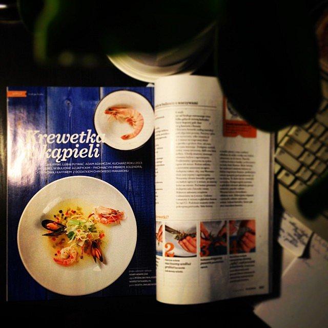 No i jest! Krewetka...i to jaka! Tandem WatsztatKadru.pl/Adam Adamczak znów w magazynie Kuchnia! To była pyszna sesja!