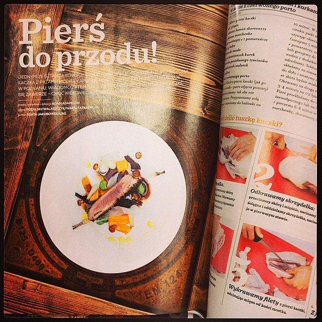 O! Z tego zdjęcia można być dumnym! Pierś do przodu :-) KUCHNIA Magazyn dla smakoszy, wrzesień 2014.