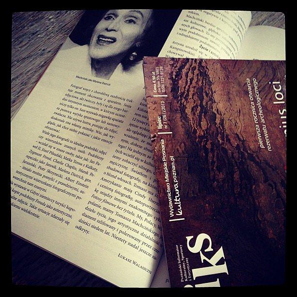 """Zapraszam do lektury mojego premierowego artykułu dla IKS o Tomaszu Machcinskim - mistrzu autokreacji. To mój debiut. Do końca roku będę realizował cykl """"Fotografia w Wielkopolsce"""", właśnie dla wydawnictwa miejskiego. Cieszę się także z tego że znalazłem"""